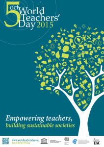 world teachers day 2015 official logo