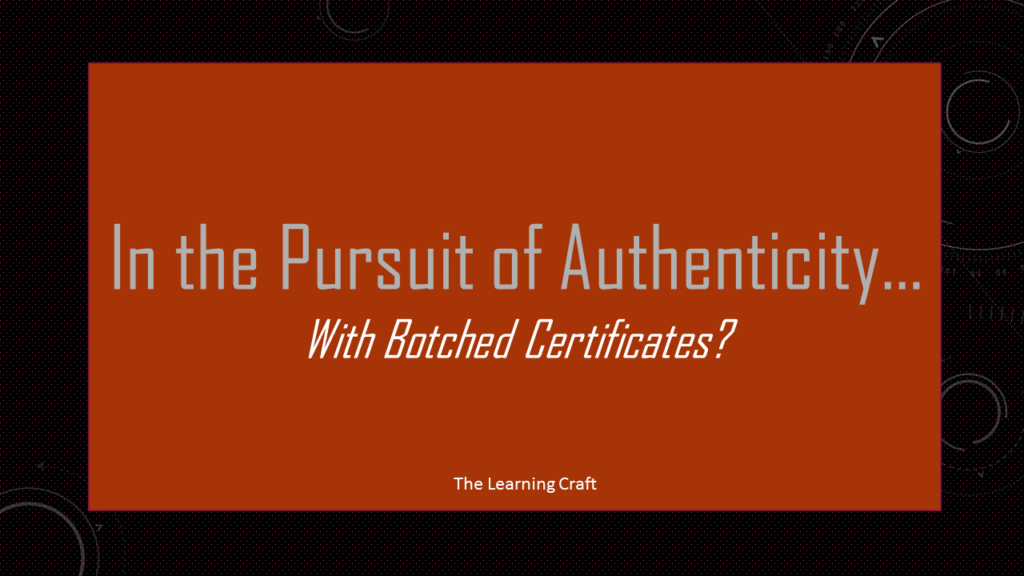 botched certificates